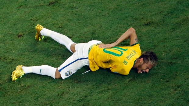 Neymar Inch Away From Paralysis After Horrendous Challenge neymar injury stretcher brazil1