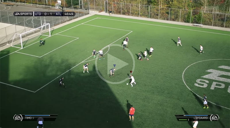 This Real Life Recreation Of FIFA Is Incredible real life fifa video game