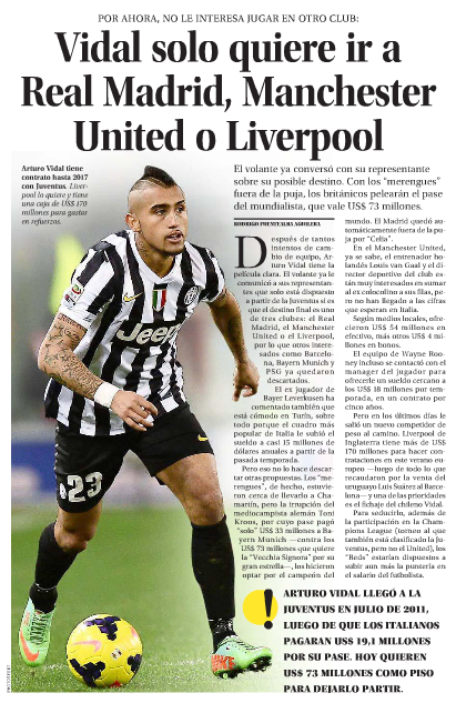 Liverpool Are About To Hijack Man Utds Vidal Move screen shot 2014 07 23 at 2 26 44 pm