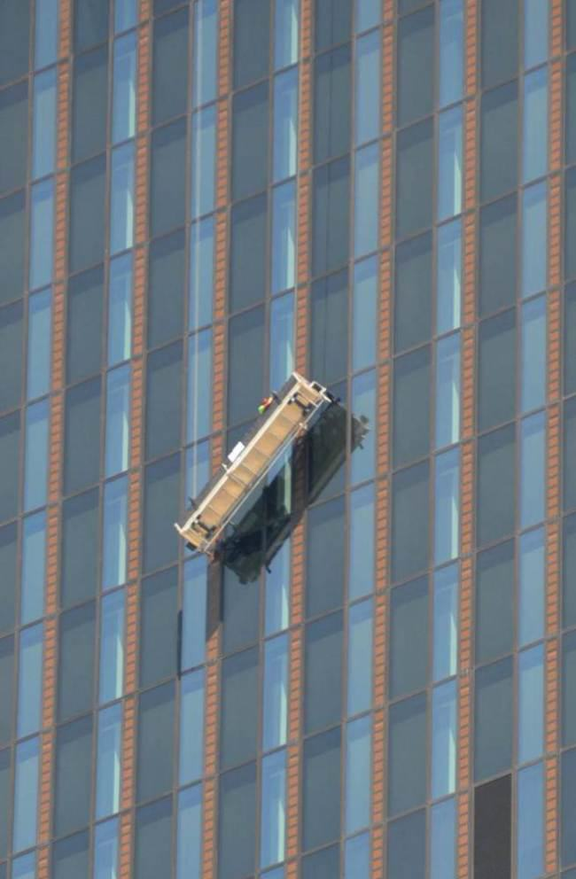 Window Cleaners Hang On For Life At 820 Feet As Cradle Breaks ad 142144035