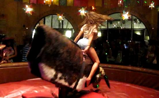 Sexiest Mechanical Bull Ride Of All Time bull1