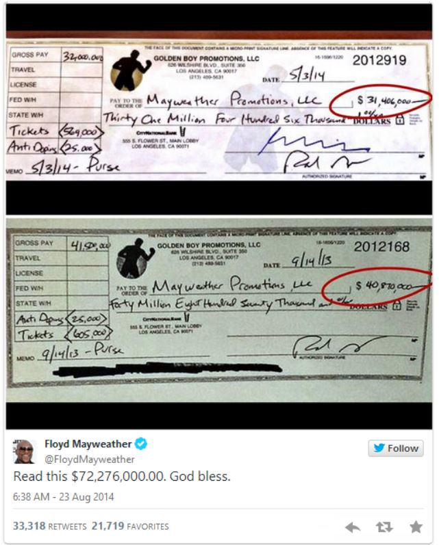 Floyd Mayweather's Comeback To All Those Who Said He Cant Read Is Amazing mayweather