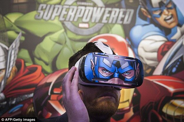 Gear VR: Samsung Reveal Innovative New Gaming Headset 1409763759393 wps 10 A man tries out the Samsu