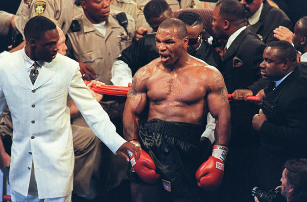Presenter Calls Mike Tyson A Rapist, Mike Loses It Mike Tyson 1997 vs Evander Holyfield II photo medium1
