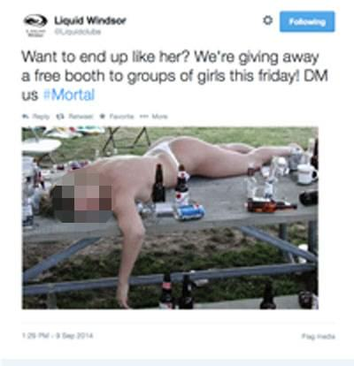 Nightclub Made To Apologise For Tweeting Pic Of Naked Drunk Girl ad 145643207