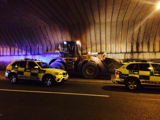 Man Leads Police On 3 Hour Chase In Stolen Digger digger