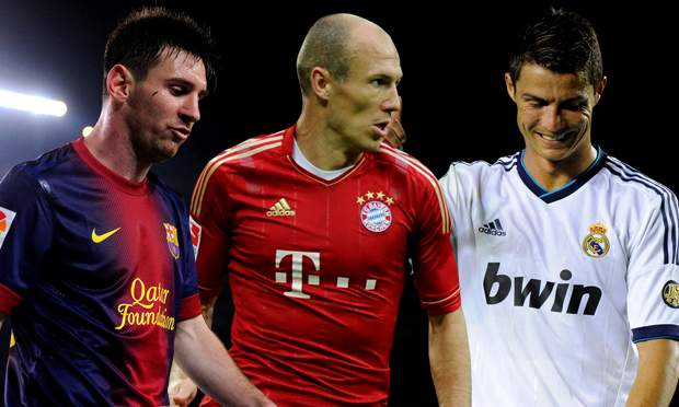 The Top 10 Rated Players On FIFA 15 ronaldo messi ve robben
