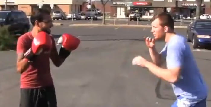 MMA Lad Challenges People To Try And Punch Him In The Face trav