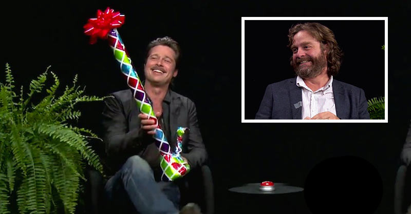 Zach Galifianakis Gives Brad Pitt A Bong In Latest Between Two Ferns 116
