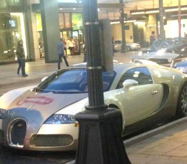 Someone Spray Painted A D*ck On A £1.5M Bugatti Veyron ad 148211035 e1412806321233