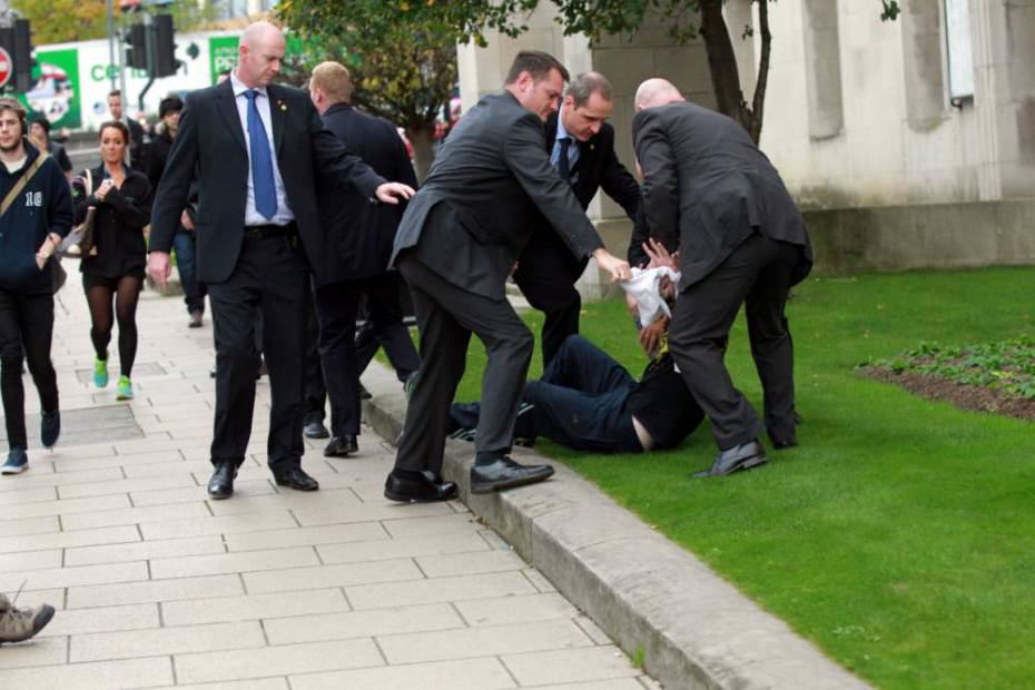 David Cameron Shoved By Man Outside Leeds Civic Hall ad 150009192