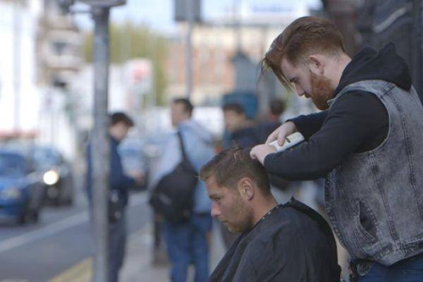 This Young Irish Barber Is Giving Homeless People Free Haircuts barber