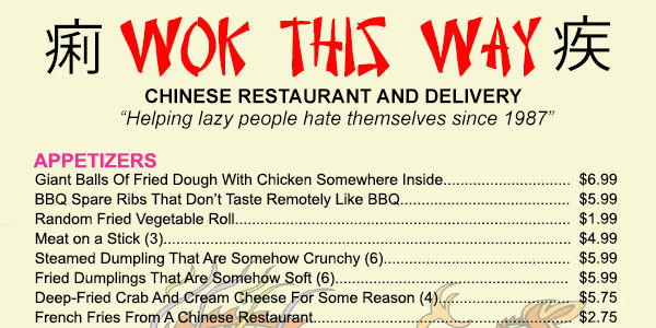 What A Chinese Food Menu Would Look Like If It Were Honest honest chinese menu elite daily1