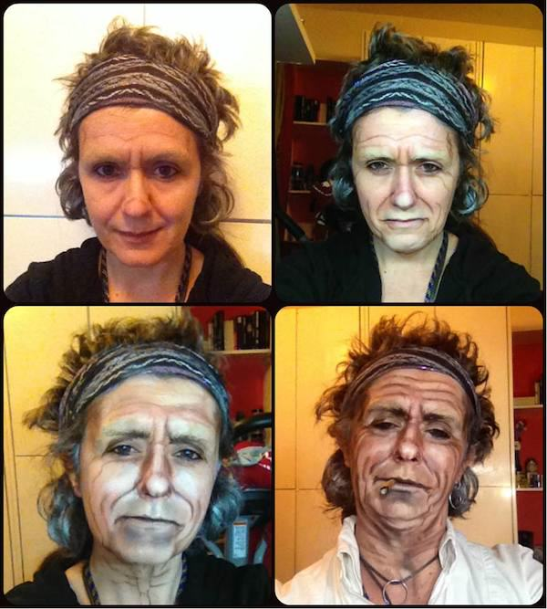 This Makeup Artists Transformations Are Unreal keith richards
