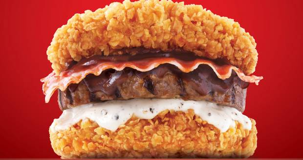 KFC Launch New Breadless Burger Using Chicken As The Bun kfc korea