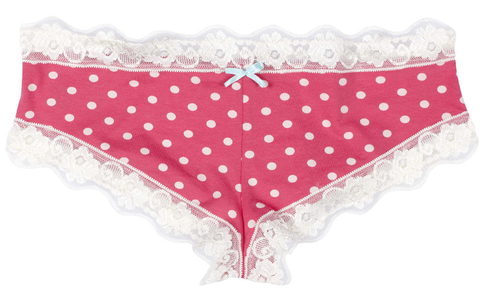 Man Wakes Up From Operation Wearing Pink Knickers, Isnt Happy lifes not fair pink spot dot shorts knickers cotton fair trade