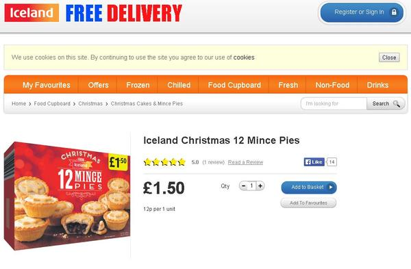 Minge Pies For Everyone As Iceland Makes Bad Typo On Mince Pies minge