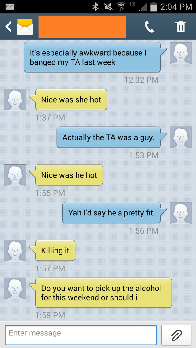 Lad Comes Out As Gay Over Text, Friend Reacts Like A True Mate text