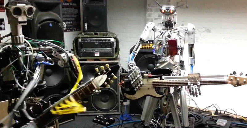 This Robot Heavy Metal Band Is F*cking Terrifying 211