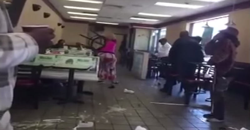 Women Trash McDonalds And Attack Staff Because They Missed Breakfast 235