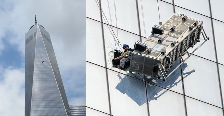 Window Cleaners Left Hanging 1800 Feet Up The One World Trade Center 252