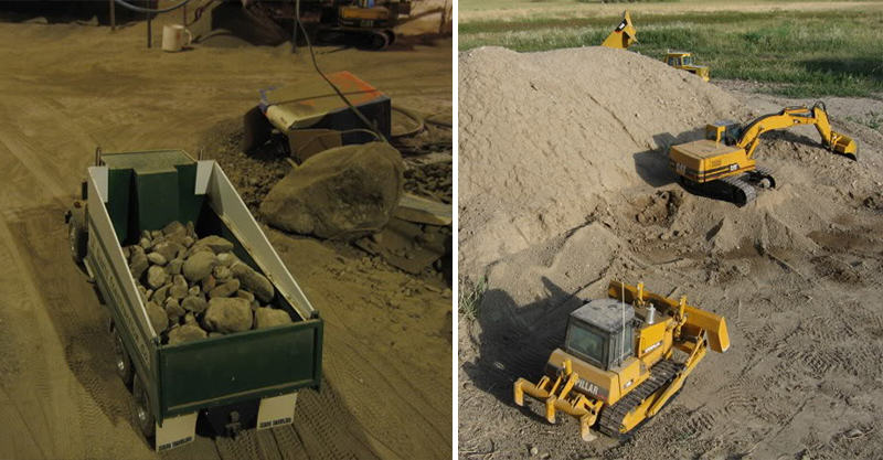 Guy Spends 9 Years Digging Out Basement With Remote Controlled Diggers 280