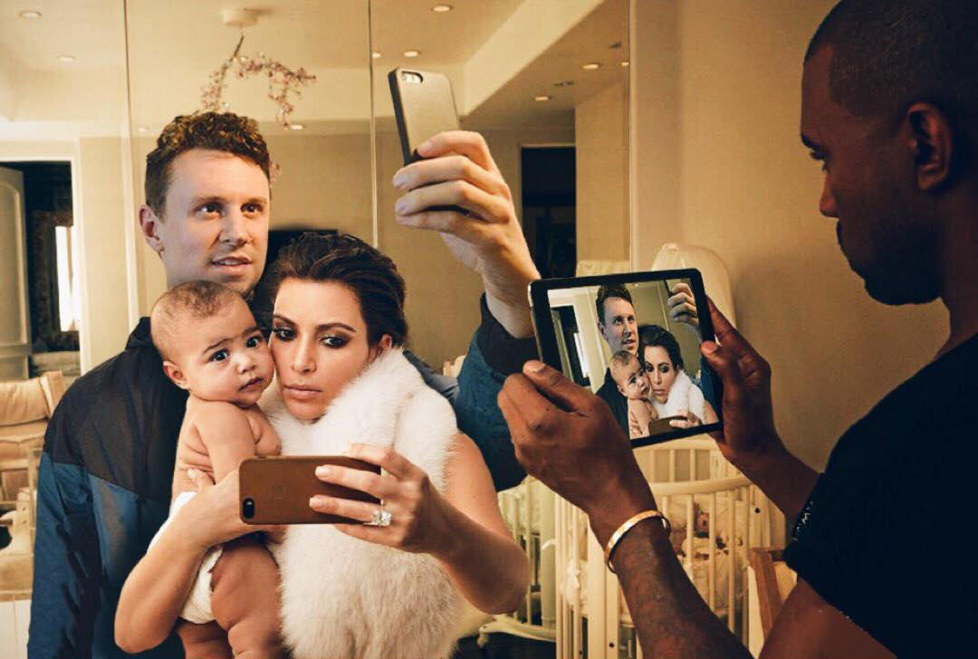 Lad Perfectly Photoshops Himself Into Family Photos Of Kim And Kanye DDG6GNa