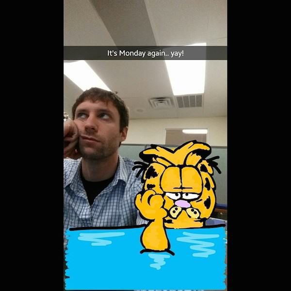 This Guy Is A KING On Snapchat, Some Of His Snap Art Is Amazing Express how you really feel about mondays