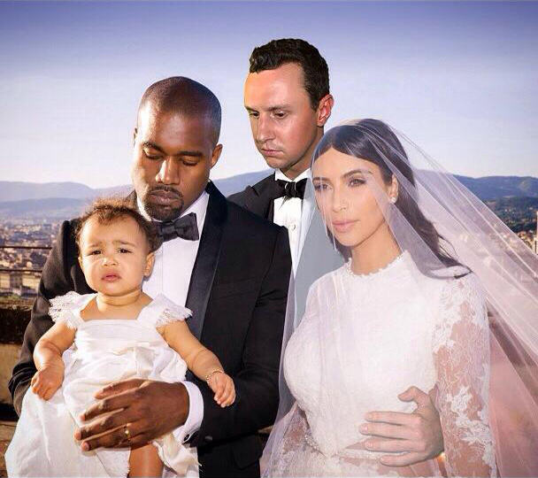 Lad Perfectly Photoshops Himself Into Family Photos Of Kim And Kanye FKQkkub