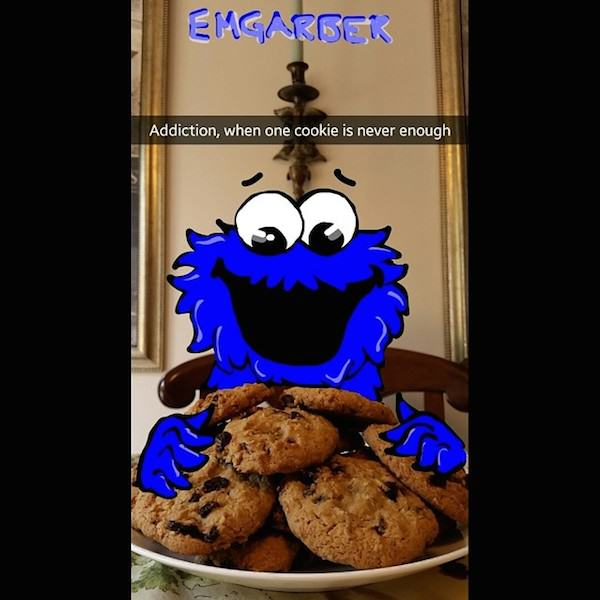 This Guy Is A KING On Snapchat, Some Of His Snap Art Is Amazing Spy on cookie monster