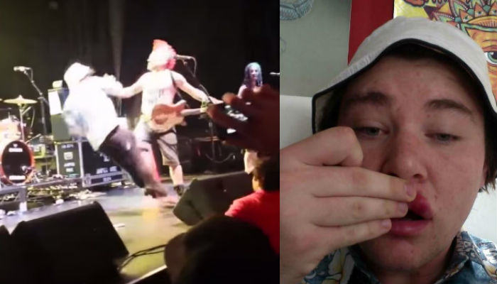 Lad Gets Knocked Out For Jumping On Stage At Punk Show Stagevader web thumb