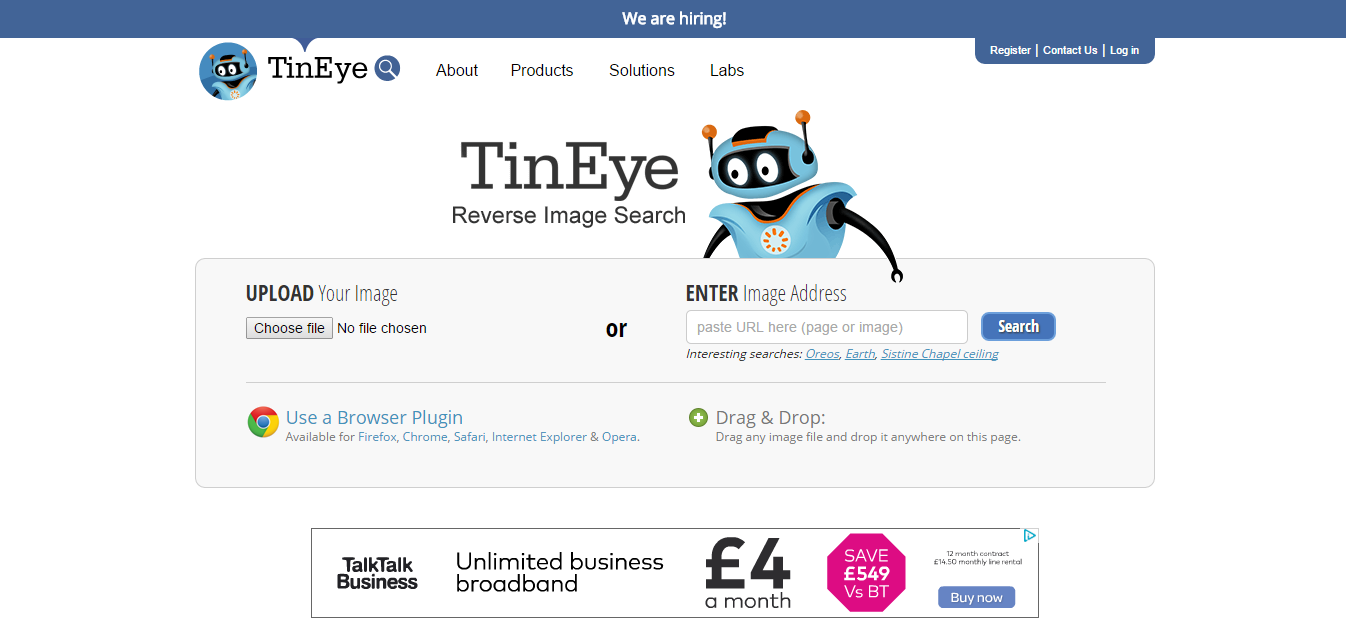 The Weird, Wonderful And Useless Websites Of The World   Part 1  TinEye
