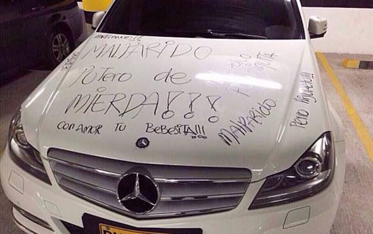 Pissed Off Girl Writes 'Crap Shag' And 'Small Penis' On Exs Mercedes ad 152847901