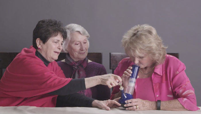 Three Grannies Get Completely Stoned Smoking Weed For The First Time grannies web thumb