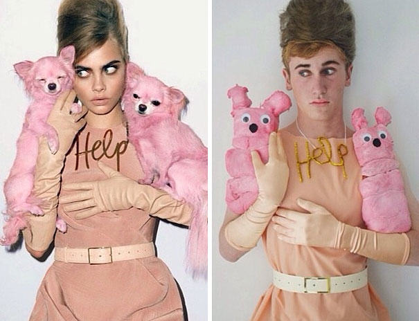 Guy Dresses As Female Celebrities And Nails It nailedit4