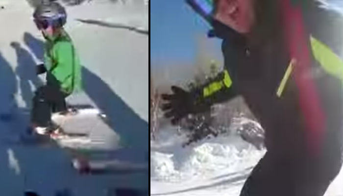 Dad Punches Snowboarder That Crashes Into His Son snow crash web thumb