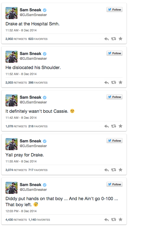 P Diddy Put Drake In The Hospital For Flirting With His Missus 1