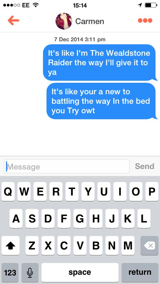 Lads Using Terrible Rap Lyrics On Tinder Is Now A Thing 10849743 10152542279202634 2384718887834885427 n