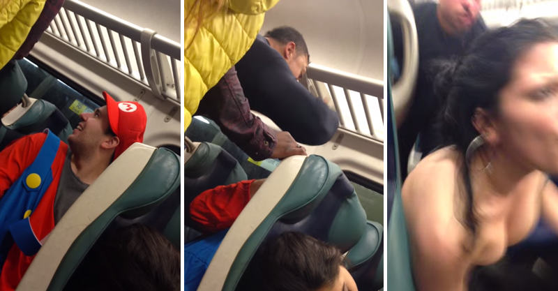 Sted Head Gets KOd By Passenger For Bullying Guy Dressed As Mario 171