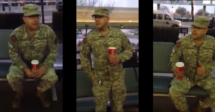 Man Impersonating Soldier At Airport Is Confronted By Ex Veteran 180