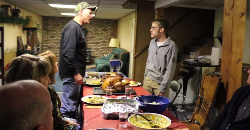 Psycho Kid Loses His Sh*t, Ruins Familys Thanksgiving Dinner 22