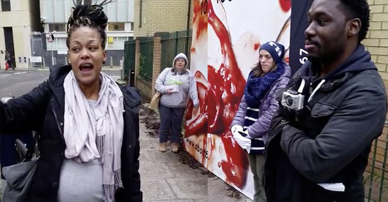 Pregnant Woman Silences Anti Abortion Protesters Outside Abortion Clinic 225