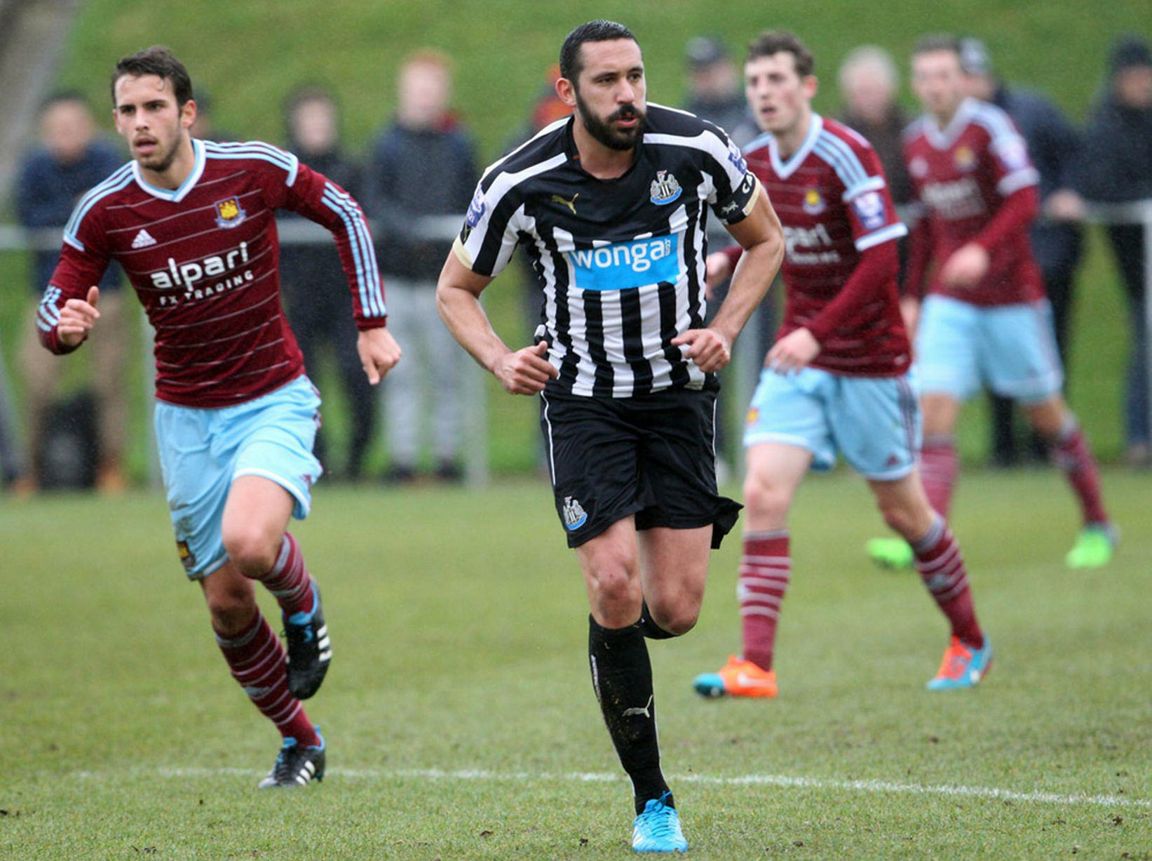Gutierrez Makes First Newcastle Appearance Since Recovering From Cancer Jonas Gutierrez