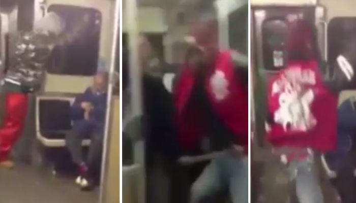 Sick Bastards Attack And Taunt An Elderly Man On A Train OAP web thumb