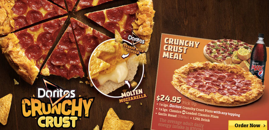 Pizza Hut Is Raising The Bar With Its New Doritos Crust doritos crunchy crust