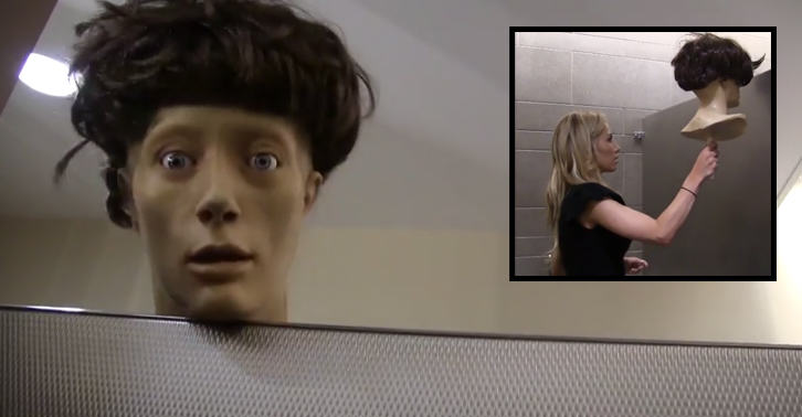 This Mannequin Head Absolutely Freaks Out Girls On The Toilet fbthumb2