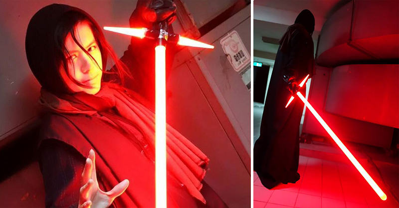 A Japanese Guy Has Built The New Star Wars Lightsaber, Obviously fbthumb7