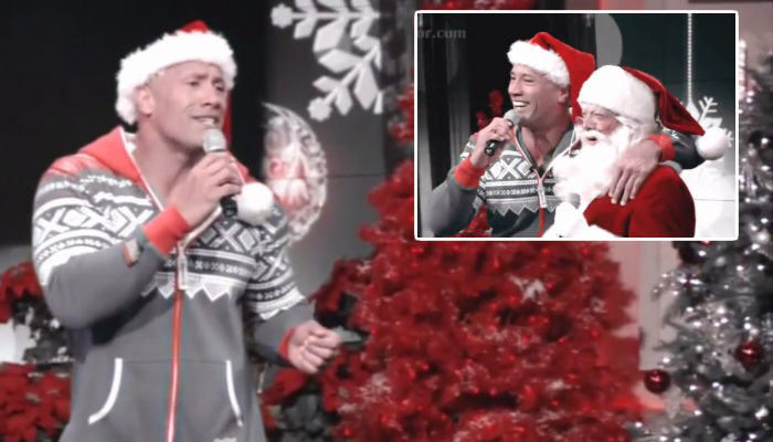 The Rock Does Christmas Karaoke In A Onesie And Its Actually Good rock 2 web thumb