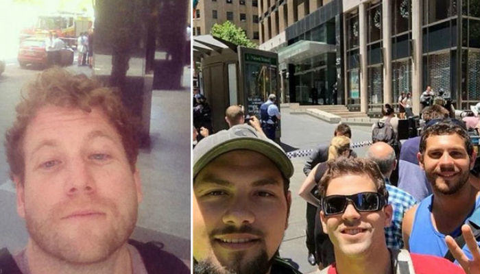 People Are Taking Selfies Outside The Terror Siege Thats Happening In Sydney selfies web thumb