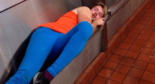 Uni Student Has A Few Too Many, Passes Out In Urinal uni